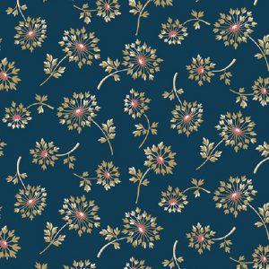 Tissu Makower A 9449 B bleu lemillepatch