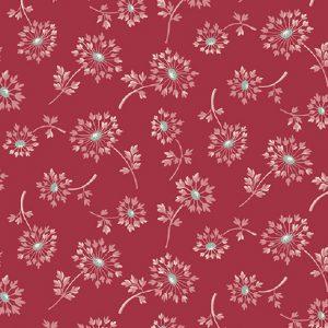 Tissu Makower A 9449 E rouge lemillepatch