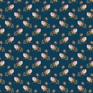 Tissu Makower A 9451 B bleu lemillepatch