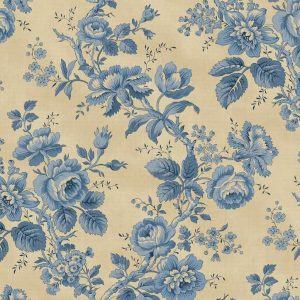 Tissu Washington Street Studio 4052 B bleu lemillepatch