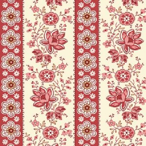 Tissu Andover A 9578 R rouge lemillepatch