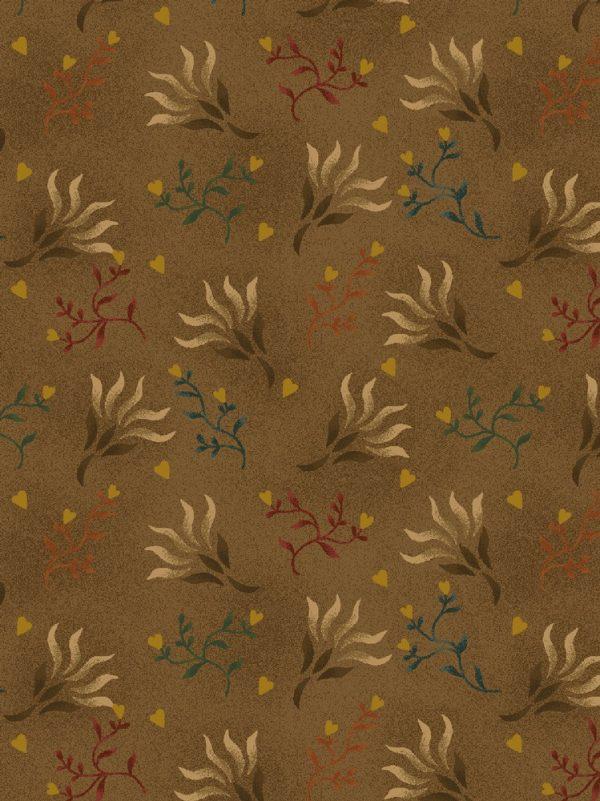 Tissu Henry Glass 0894 33 marron lemillepatch
