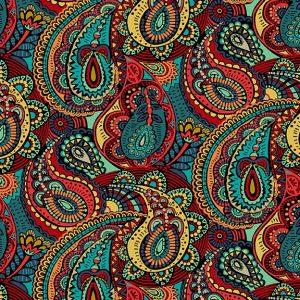 Tissu Makower 2303 X noir lemillepatch