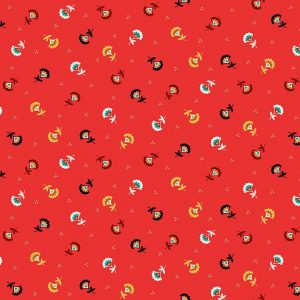 Tissu Makower 2304 R rouge lemillepatch