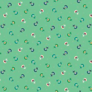 Tissu Makower 2304 T bleu lemillepatch