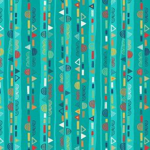 Tissu Makower 2306 T bleu lemillepatch