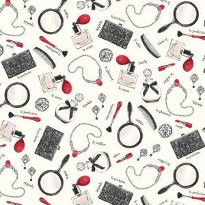 Tissu P&B Fabrics 4285 MU blanc lemillepatch