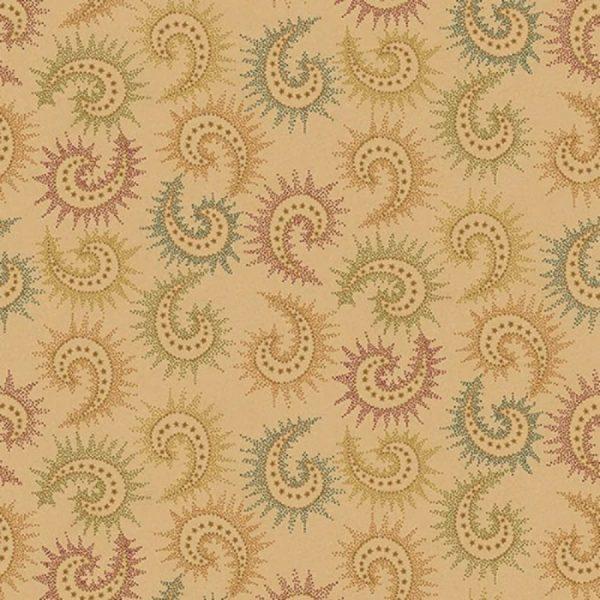 Tissu Henry Glass 6368 33 beige lemillepatch