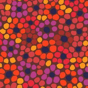 Tissu Free Spirit 077 rouge lemillepatch