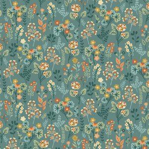 Tissu Makower 2261 B bleu lemillepatch