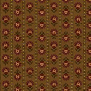 Tissu Henry Glass 1928 33 marron lemillepatch