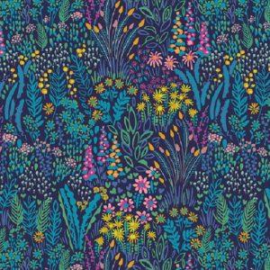 Tissu Windham 51929-2 bleu lemillepatch