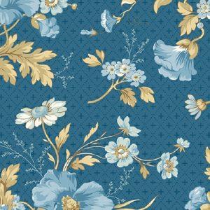 Tissu Andover A 9577 B bleu lemillepatch