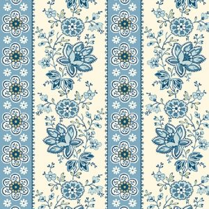 Tissu Andover A 9578 B bleu lemillepatch