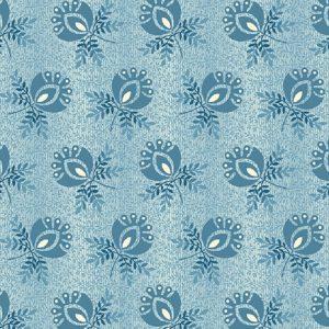 Tissu Andover A 9579 B bleu lemillepatch