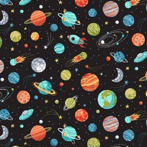 Tissu Makower 2270 x noir lemillepatch