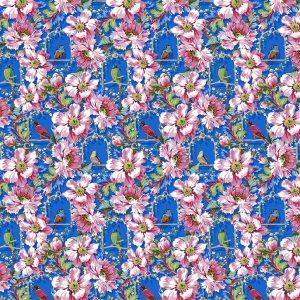 Tissu Free Spirit 041 bleu lemillepatch