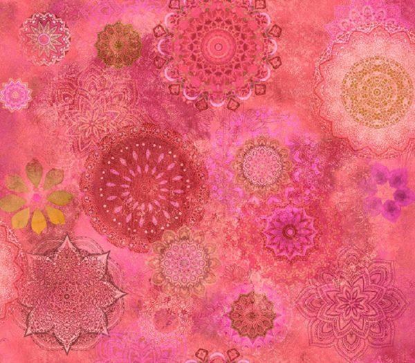 Tissu Clothworks Y 3118-74 rose lemillepatch