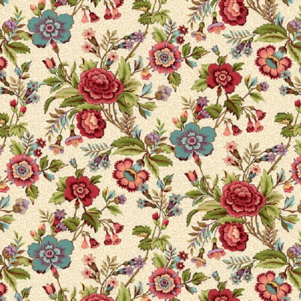 Tissu Henry Glass 2597-33 blanc lemillepatch