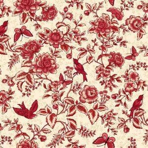 Tissu Henry Glass 2598-38 blanc lemillepatch