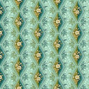 Tissu Henry Glass 2601-76 bleu lemillepatch