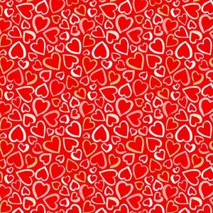 Tissu Makower 2315 R rouge lemillepatch