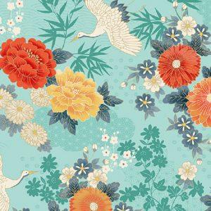 Tissu Makower 2330 T bleu lemillepatch