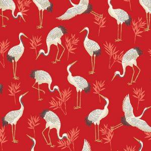Tissu Makower 2331 R rouge lemillepatch