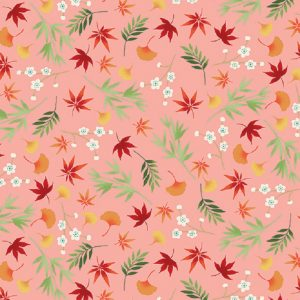 Tissu Makower 2333 P rose lemillepatch