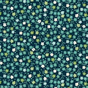 Tissu Makower 2335 B bleu lemillepatch