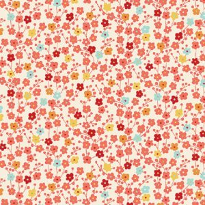 Tissu Makower 2335 Q blanc lemillepatch