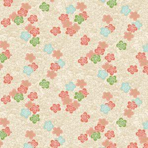 Tissu Makower 2336 Q blanc lemillepatch