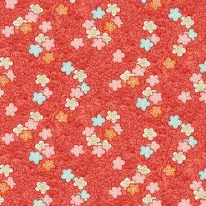 Tissu Makower 2336 R rose lemillepatch