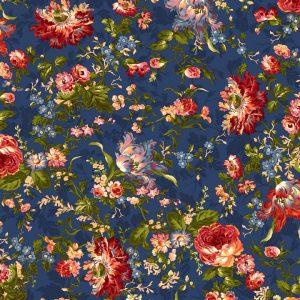 Tissu Maywood 9870-N bleu lemillepatch