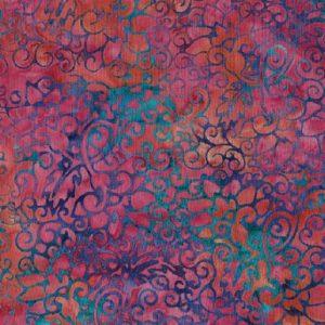 Tissu Makower 6 1024 rose lemillepatch