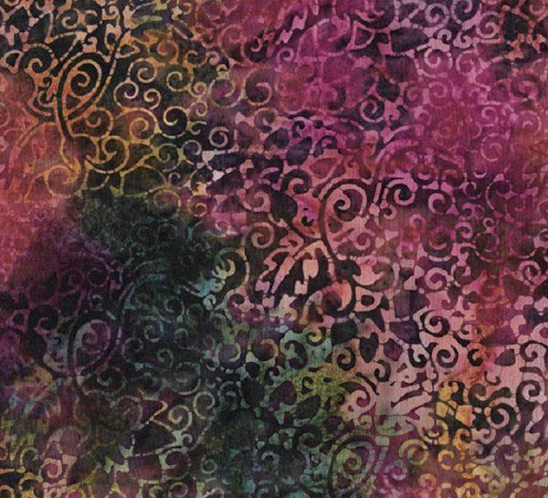 Tissu Makower 6 1035 bordeaux lemillepatch