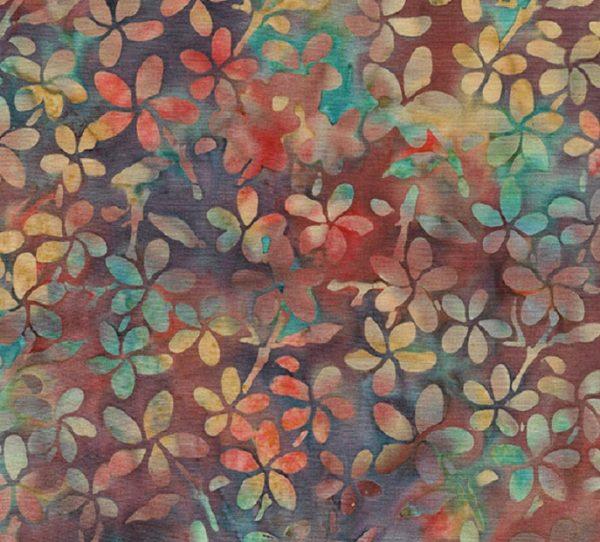Tissu Makower 6 1045 orange lemillepatch