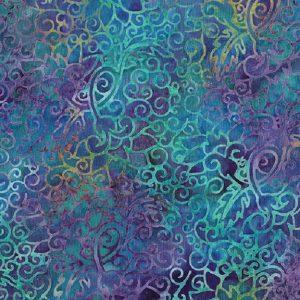 Tissu Makower 6 1055 bleu lemillepatch
