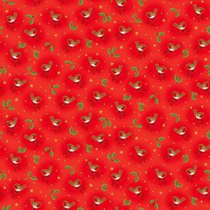Tissu Makower 2376 R rouge lemillepatch