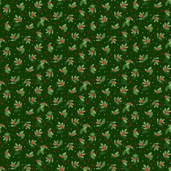 Tissu Makower 2377 G vert lemillepatch