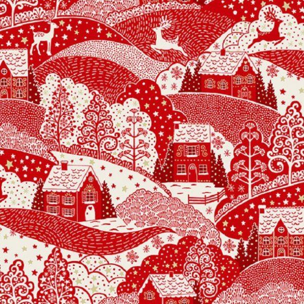 Tissu Makower 2355 R rouge lemillepatch