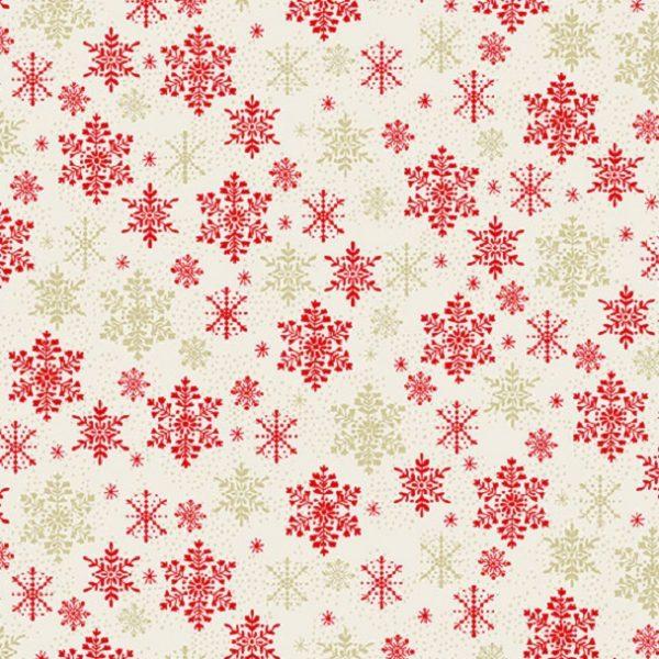 Tissu Makower 2358 R blanc lemillepatch
