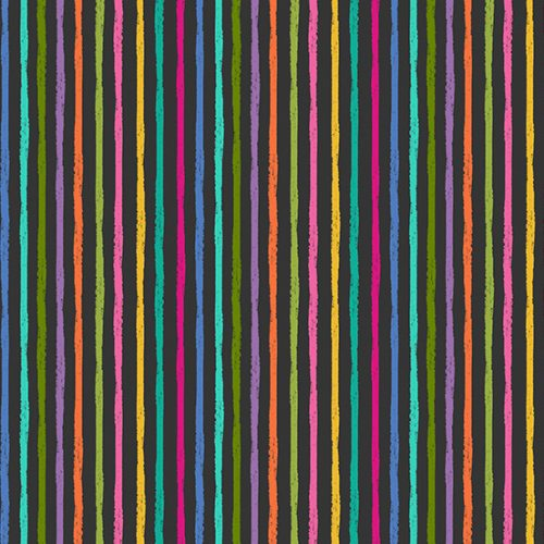 Tissu Makower 2347-S noir lemillepatch