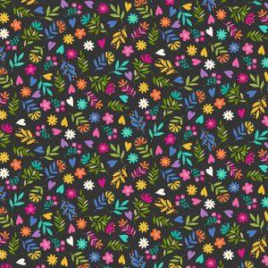 Tissu Makower 2351-S noir lemillepatch