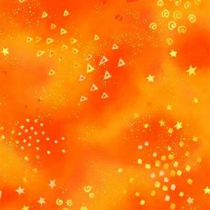 Tissu Clothworks Y0808-37M orange lemillepatch