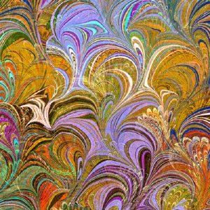 Tissu Benartex 12355-39 orange lemillepatch