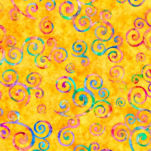 Tissu Quilting Treasures 28326-S jaune lemillepatch