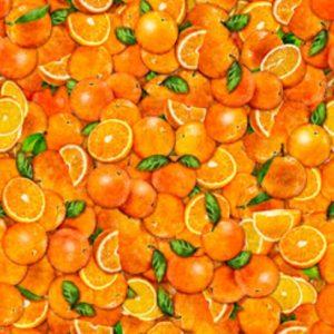 Tissu Quilting Treasures 28455-O orange lemillepatch