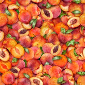 Tissu Quilting Treasures 28467-C orange lemillepatch