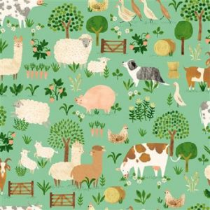 Tissu Clothworks Y3251-110 vert lemillepatch